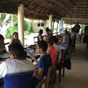 Eco Hotel Restaurant Maya Lun Mahahual Mexico   Patio