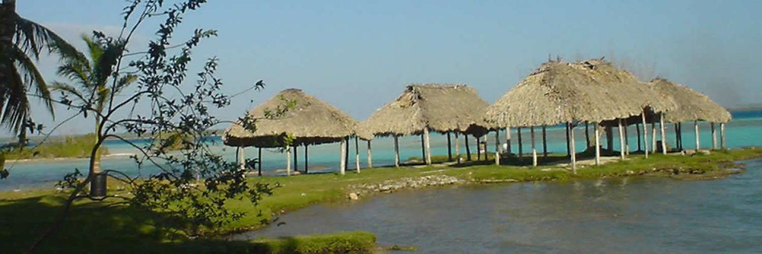 Lake Bacalar. Combine a visit and swim in this sweet water lake with a visit to the ruins of Chacchoben