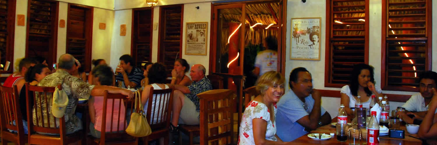 The restaurant of Hotel Maya Luna Mahahual