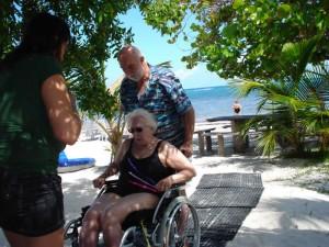 Mahahual Hotel Maya Luna. Wheel chair accesible beach