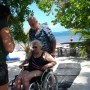 Mahahual Hotel Maya Luna. Wheel chair accesible beach