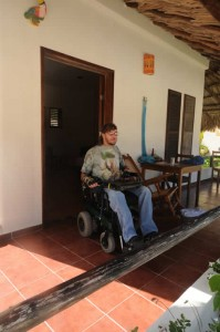 Eco Hotel Restaurant Maya Luna Mahahual. Wheel chair accesible bungalow