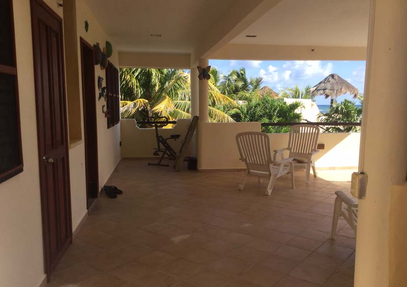 maya luna mahahual private suite upstairs terrace west side