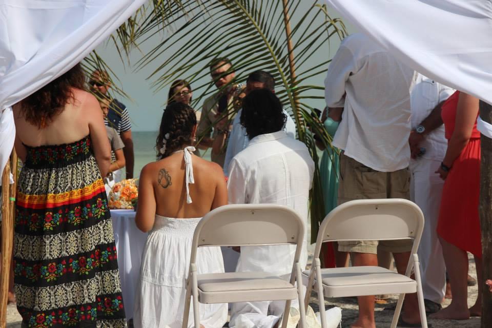 Eco Hotel Restaurant Maya Luna beach wedding