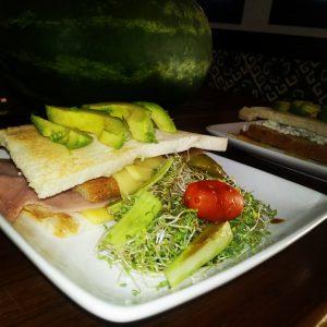 Eco Hotel Restaurant Maya Luna Mahahual . Sandwich Maya Luna