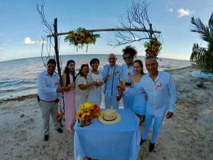 Hotel Restaurant Maya Luna eco wedding at the beach