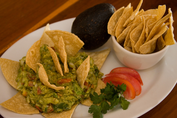 Eco Hotel Restaurant Maya Luna Mahahual. Guacamole