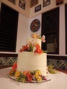 Eco Hotel Restaurante Maya Luna Mahahual EcoBoda en la Playa el pastel
