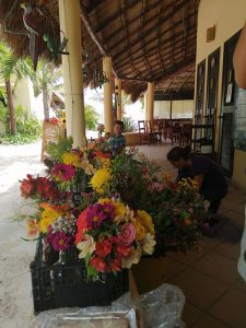 Eco Hotel Restaurante Maya Luna Mahahual EcoBoda flores