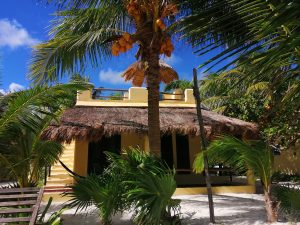 Eco Hotel Restaurant Maya Luna Mahahual bungalow para familia