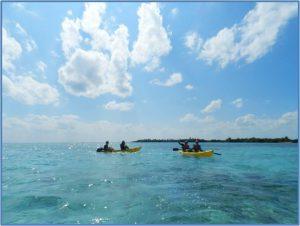 Eco Hotel Restaurant Maya Luna Mahahual. Laguna Bacalar. Kayaking