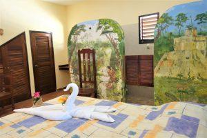 Eco Hotel Restaurant Maya Luna Mahahual. Bungalow Chacchoben, 1 queen size bed