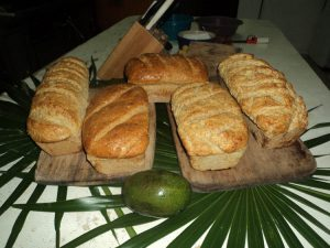 Eco Hotel Restaurant Maya Luna Mahahual. Homemade bread