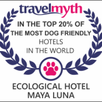 TravelMyth Eco hotel restaurant Maya Luna in the top 20% of the most dog friendly pet friendly hotels in the world